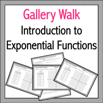 Introduction to Exponential Functions Gallery Walk