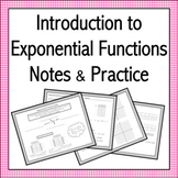 Introduction to Exponential Functions Notes & Practice