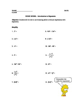 Introduction to Exponents Lesson Plan (Middle School)