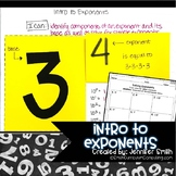 Introduction to Exponents Lesson for Interactive Notebooks