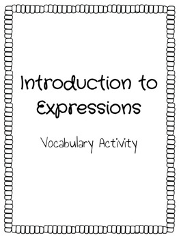 Introduction to Expressions