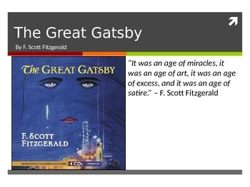 Introduction to F. Scott Fitzgerald, The Great Gatsby, and The Roarin' Twenties