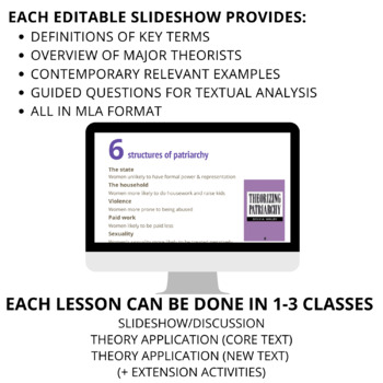 Intro to FIVE Literary Theories - PowerPoints, Suggested Texts, Teacher Notes