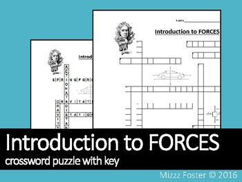 Introduction to FORCES crossword puzzle with key