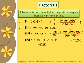 Introduction to Factorials and Permutations Presentation, Notes & Practice