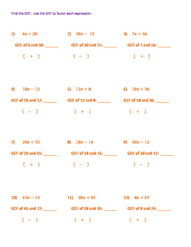 Introduction to Factoring