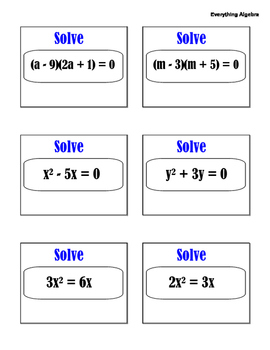 Introduction to Factoring Polynomials Activity