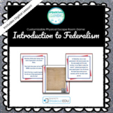 Introduction to Federalism Customizable Escape Room / Brea