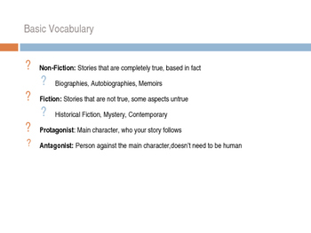 Introduction to Fiction PowerPoint