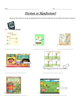 Introduction to Fiction and NonFiction Lesson for Grade 1