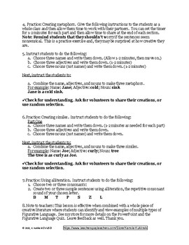 Introduction to Figurative Language Quiz