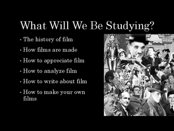 Introduction to Film Studies (Middle School Edition)