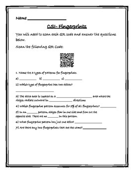 Introduction to Fingerprints with QR Codes