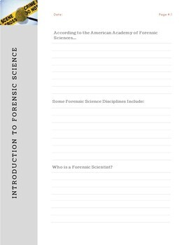 Introduction To Forensic Science Notes Handout By Mk Science Lab Teachers Pay Teachers