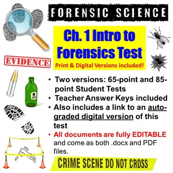 Introduction to Forensic Science Test and Answer Key