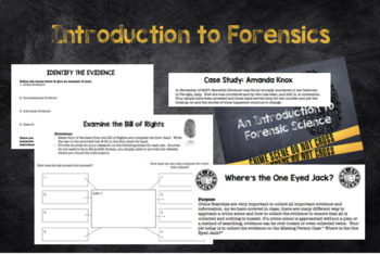 Introduction to Forensics: Unit Plan