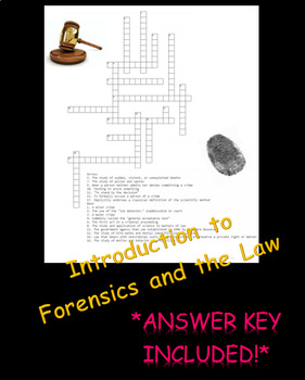 Introduction to Forensics and the Law Crossword Puzzle Review