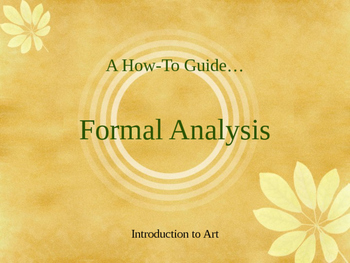 Introduction to Formal Analysis of Art