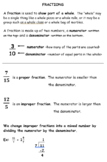 Introduction to Fraction Notes