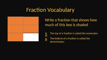 Introduction to Fractions - Autumn / Fall Theme