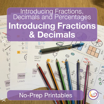 Fractions Decimals And Percentages Introduction Worksheetsprintables
