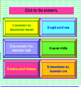 Introduction to Fractions FREE PowerPoint PREVIEW