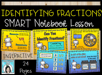Introduction to Fractions / Identifying Fractions SMART No