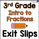 Introduction to Fractions Math Exit Slips 3rd Grade Common Core