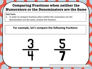 Fractions: Introduction to Fractions PowerPoint and Student Notes Newly Revised