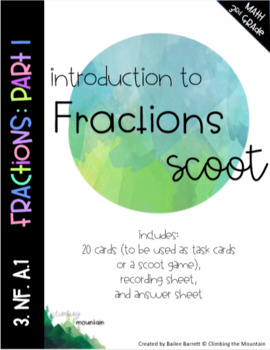 Introduction to Fractions Scoot- Part 1