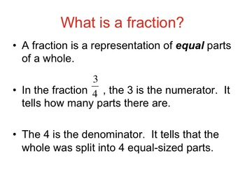Introduction to Fractions Slideshow (3.NF.A.1)