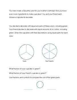 Introduction to Fractions Third Grade