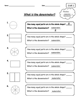 Introduction to Fractions - What is a denominator and a numerator?