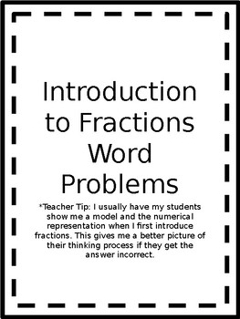 Introduction to Fractions Word Problems