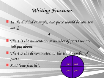 Introduction to Fractions for 1st, 2nd and 3rd Grade