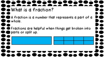 Introduction to Fractions of a Region and Set- PowerPoint or Posters
