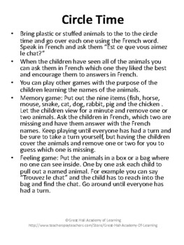 Introduction to French Words:  Animals / Les Animaux