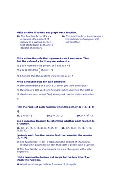 Introduction to Functions
