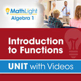 Introduction to Functions   Unit with Videos   Good for Di
