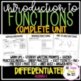 Introduction to Functions: No PREP Complete Unit + Differentiated + Answer Keys