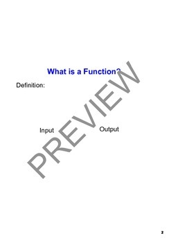 Introduction to Functions - SMARTBoard Notes