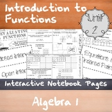 Introduction to Functions - Unit 2 - Algebra 1 - Notes