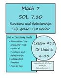 Math 7 Virginia VA SOL 7.10 Intro to Functions Zip Grade T