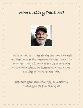 Introduction to Gary Paulsen