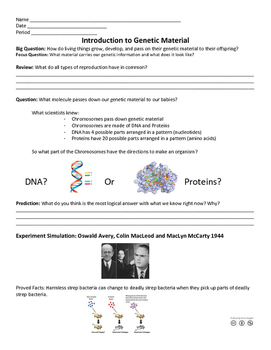 Introduction to Genetic Material/DNA
