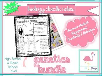 Introduction to Genetics BUNDLE 1- Doodle Notes  - Great Deal!