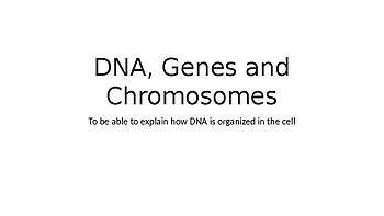 Introduction to Genetics: DNA, genes and chromosomes