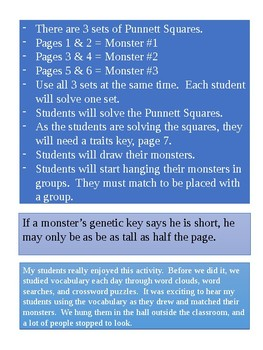 Introduction to Genetics Part 2 - Genetic Monster