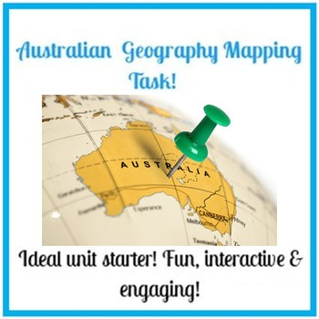 Introduction to Geography - Australian Mapping Task + SPICESS activity