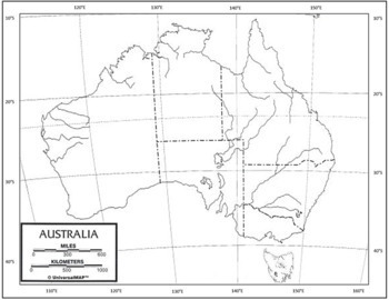 Australia Map Latitude.Australian Mapping Task Includes Spicess Latitude Longitude Review Quiz